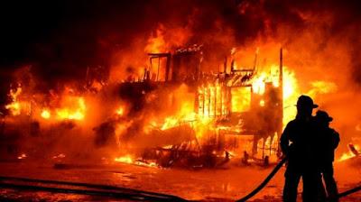 Puluhan Rumah di Manokwari Terbakar