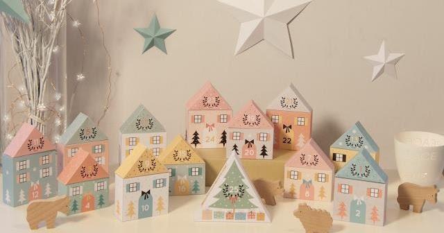 Advent Calendar Village Diy : Papermau christmas time the little village advent