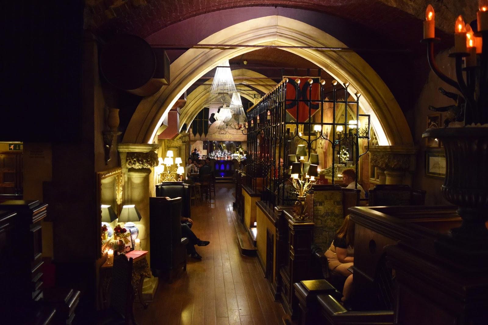 the main bar area inside Bacchus bar