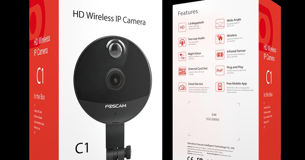 Foscam C1 720P P2P Wireless IP Camera with PIR Sensor   TechTronic9000
