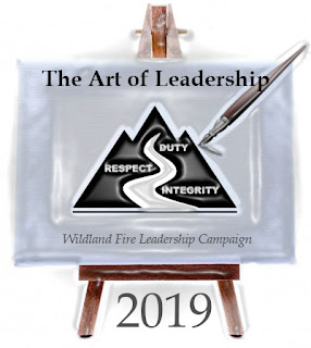2019 Wildland Fire Leadership Campaign - The Art of Leadership logo (Easel painting the program logo)