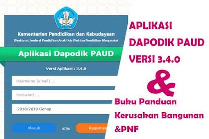 Rilis Aplikasi Dapodik Paud Versi 3.4.0 Semester 2 Tahun Ajaran 2018/2019