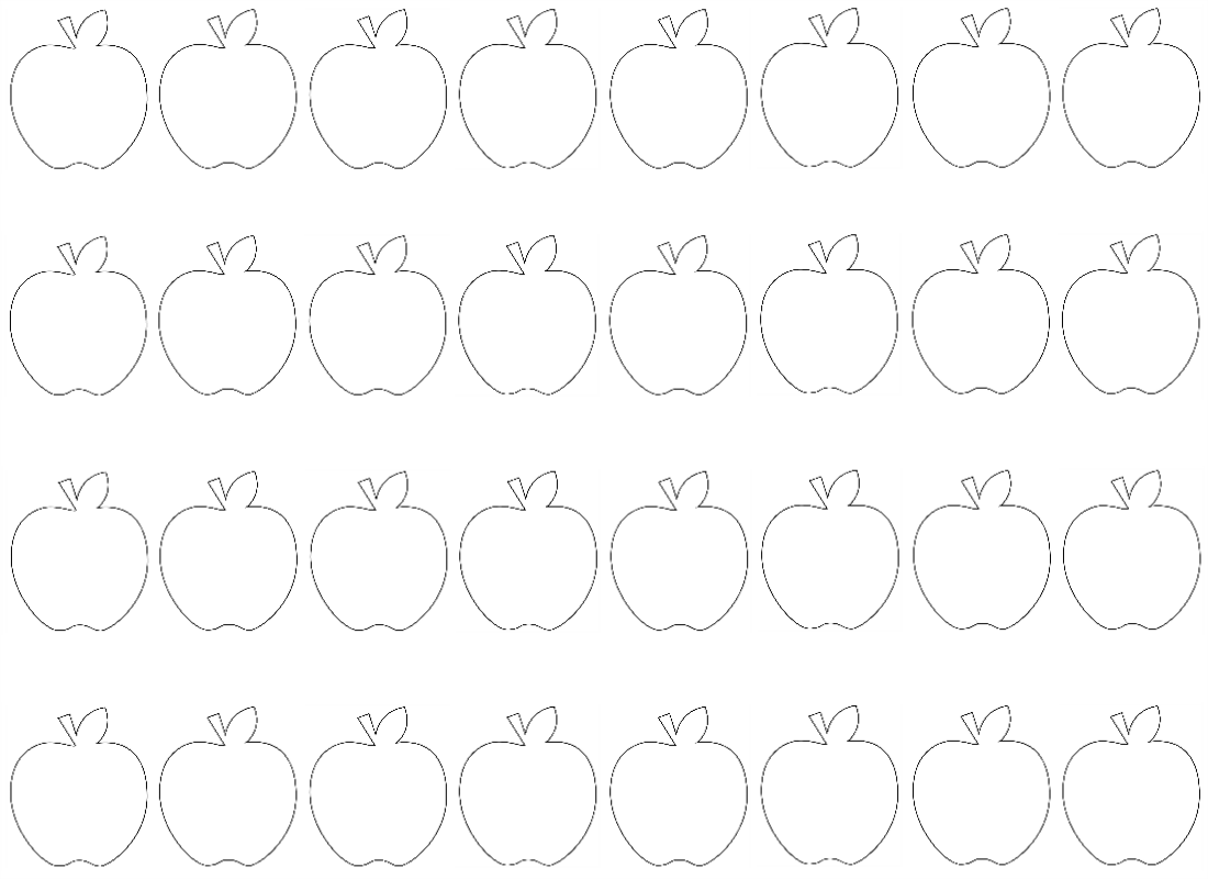 Free Coloring Pages Of Counting Apples Worksheet
