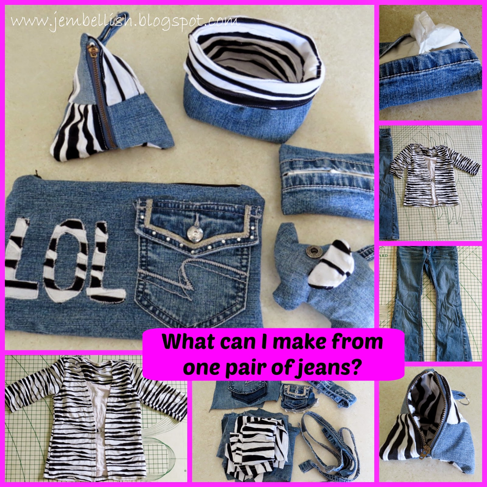 What can I make from one pair of jeans?