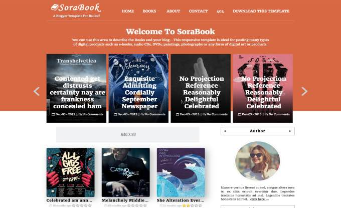 Sora Book Blogger Template.