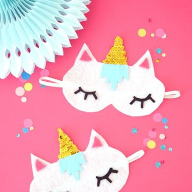 No-Sew DIY Unicorn Sleeping Masks with Free Template