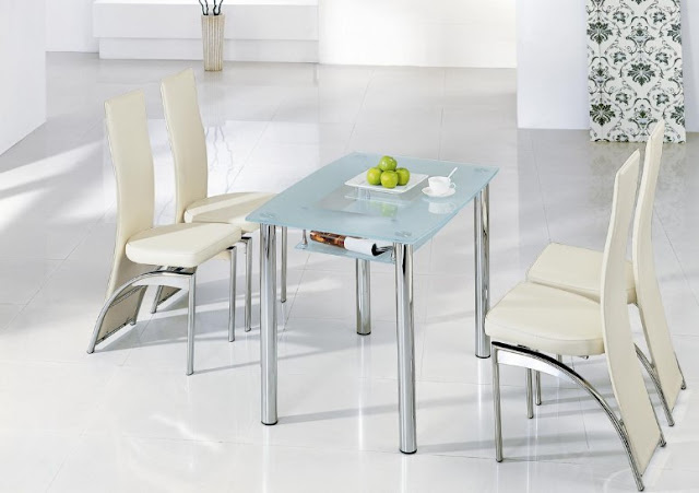 White Futuristic Small Dining Table