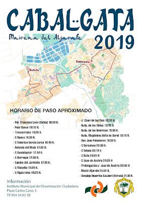 Horario e Itinerario Cabalgata de los Reyes Magos de Mairena del Aljarafe (Sevilla) 2019
