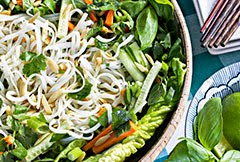 Beat-the-Heat Thai Noodle Salad w/ Toasted Sesame Oil Dressing