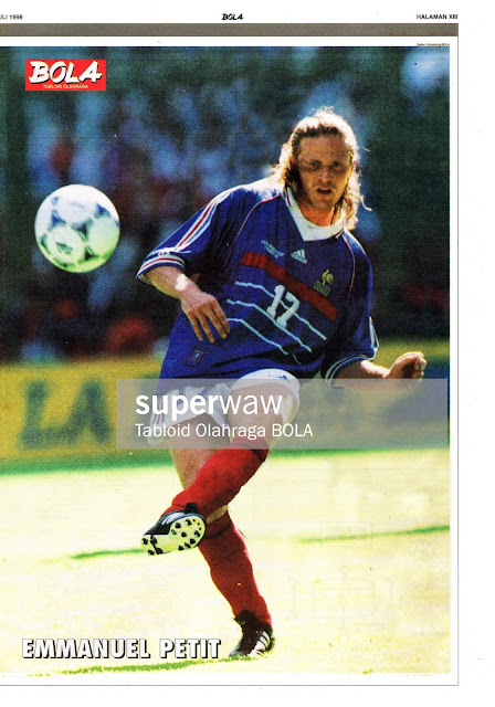 EMMANUEL PETIT FRANCE WORLD CUP 1998