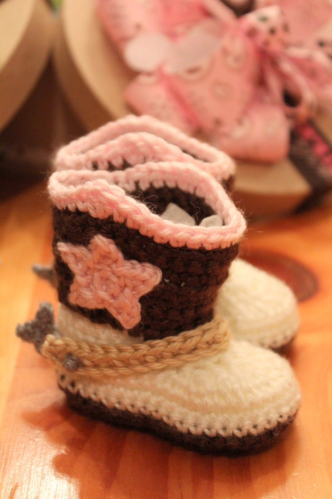 Crocheted Cowboy Boots Amp Breakfast Basket