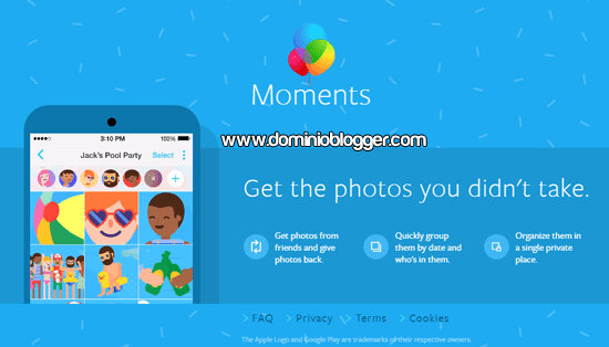 App Moments de Facebook para Android