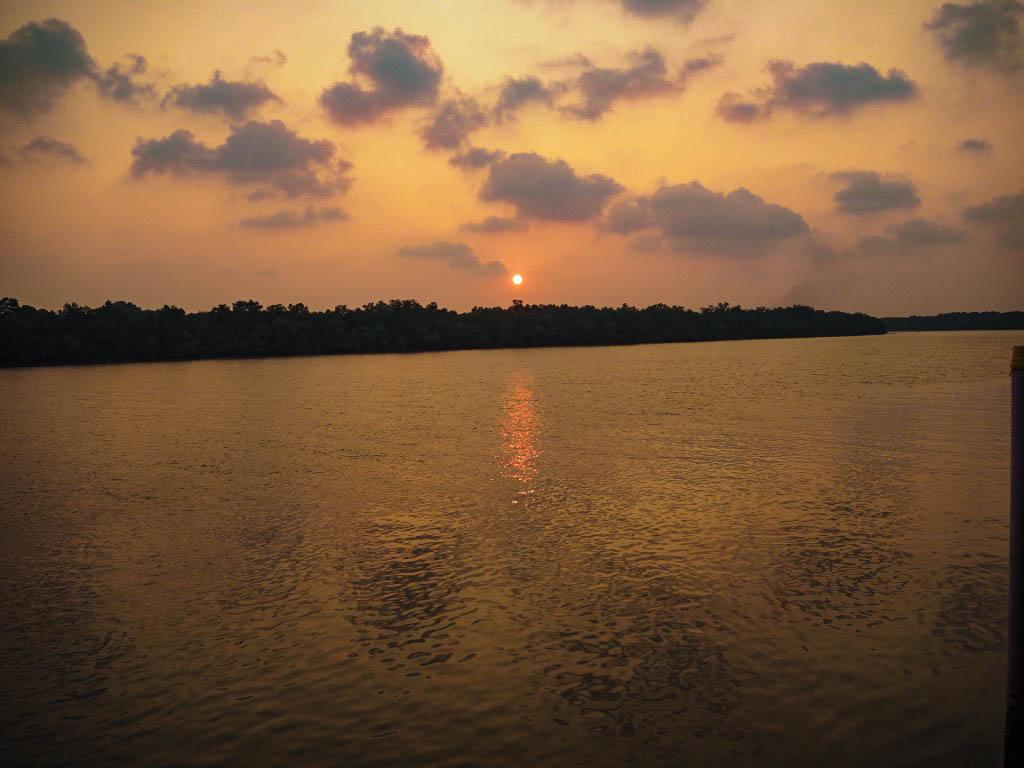 kuala selangor river sunset