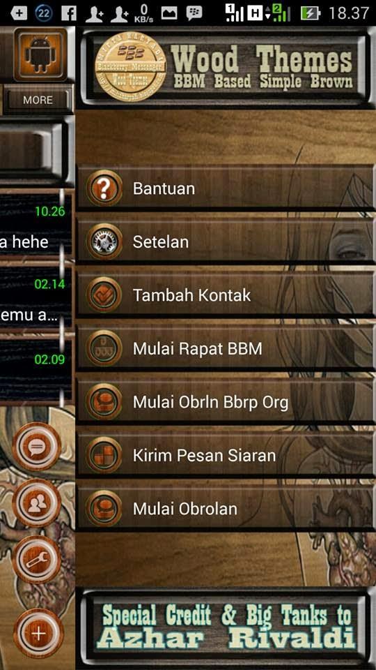 BBM MOD WOOD THEMES VERSI 2.8.0.21 APK - Jembersantri.Blogspot.Com