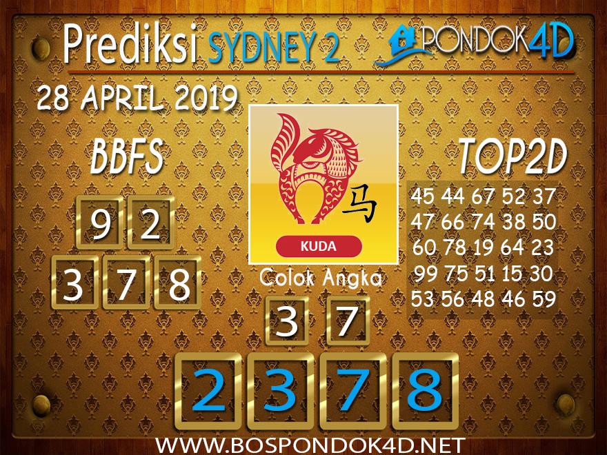 Prediksi Togel SYDNEY 2 PONDOK4D 28 APRIL 2019
