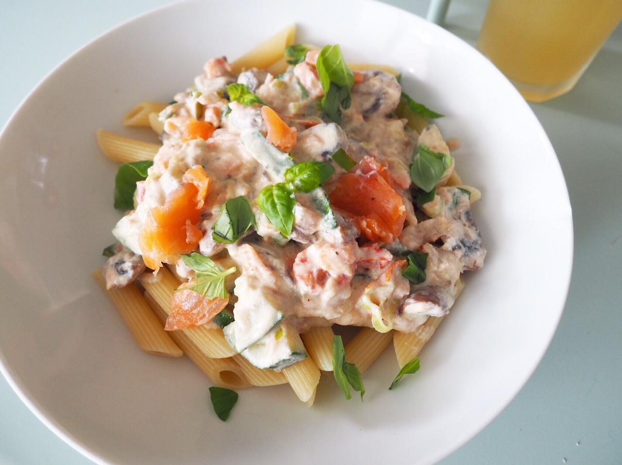 lichte maaltijd pasta