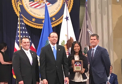 UIS senior honored with U.S. Department of Justice award for work on Human Trafficking Task Force