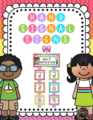 https://www.teacherspayteachers.com/Product/EDITABLE-Hand-Signal-Signs-Classroom-Management-Rainbow-Chevron-1928041