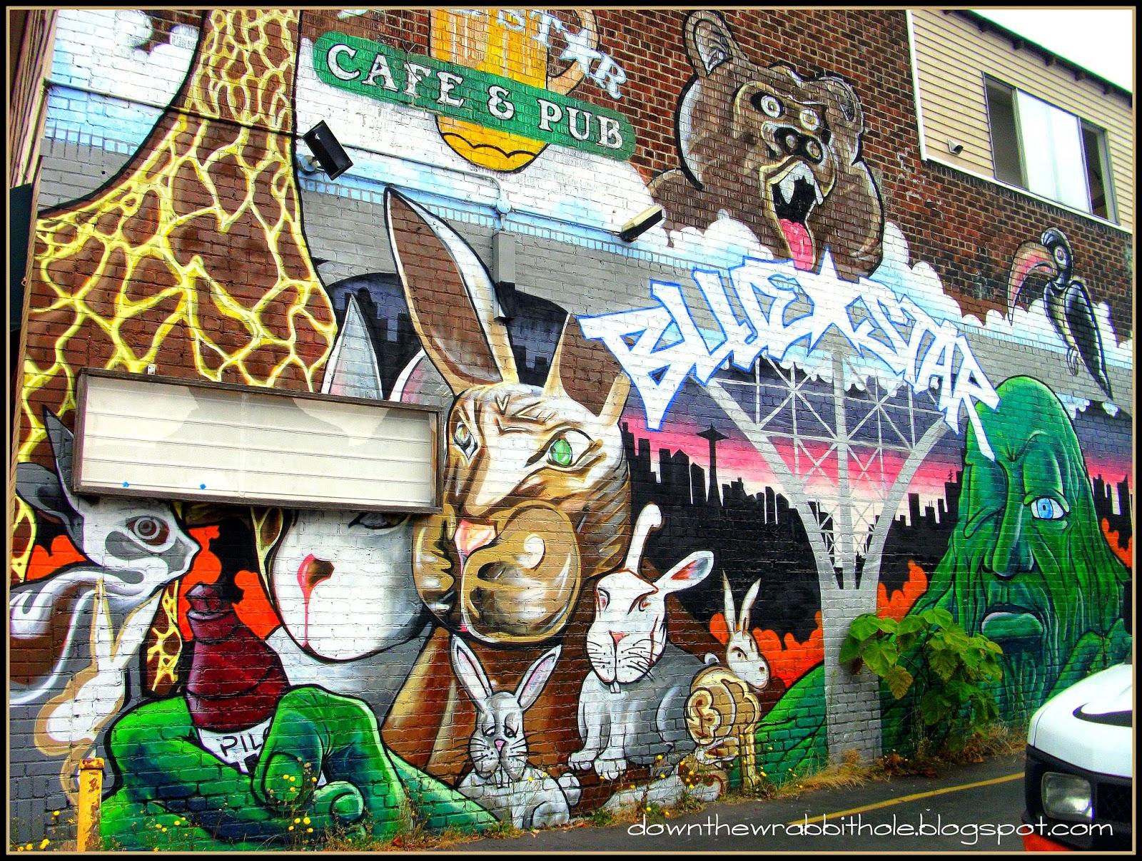 Seattle street art wall graffiti