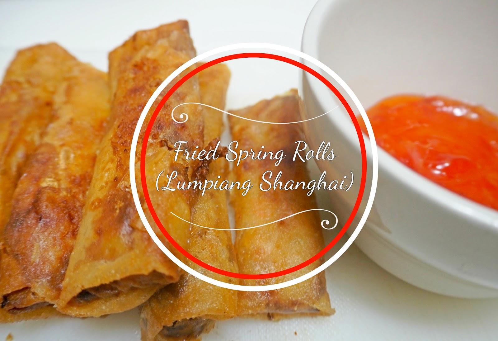 fried spring rolls (lumpiang shanghai)