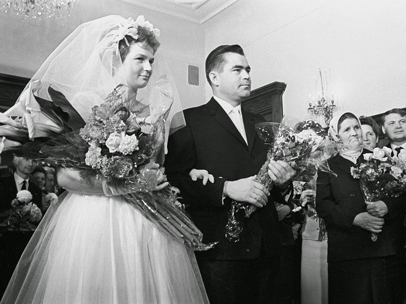Il matrimonio di Valentina Tereškova e Andrijan Nikolaev.
