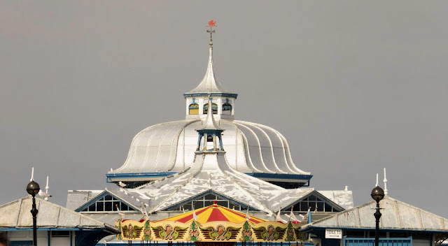 North Wales Points of Interest: Silver roofs along Llandudno Pier