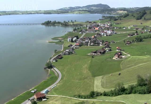Sihlsee - lago artificial da Suíça - cantão de Schwyz