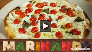Pizza vegetariana ricota e iogurte grego