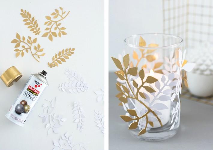 Dos sencillos diy de otoño para decorar portavelas