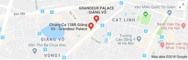 Vị trí dự án Grandeur Palace 138B Giảng Võ