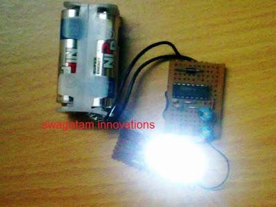 1.5V led flashlight prototype