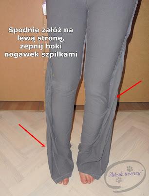 jak zwęzić nogawki instrukcje krok po kroku