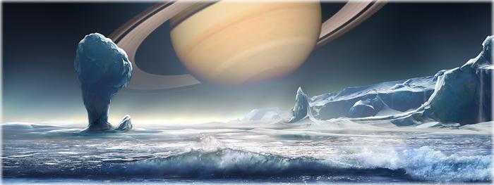 bactéria terrestre pode viver em encelado lua de Saturno