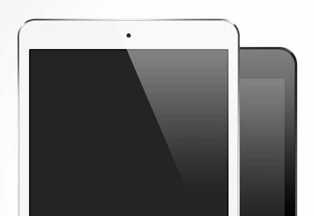 Free iPad Mini Vector Mock-up