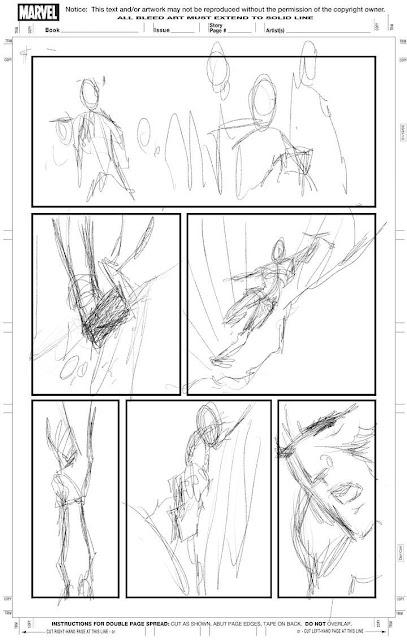 Bocetos del comic de Jackman en Logan por Quesada