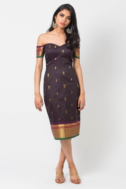 Designer Kurtis Online with Off Shoulder Pattern