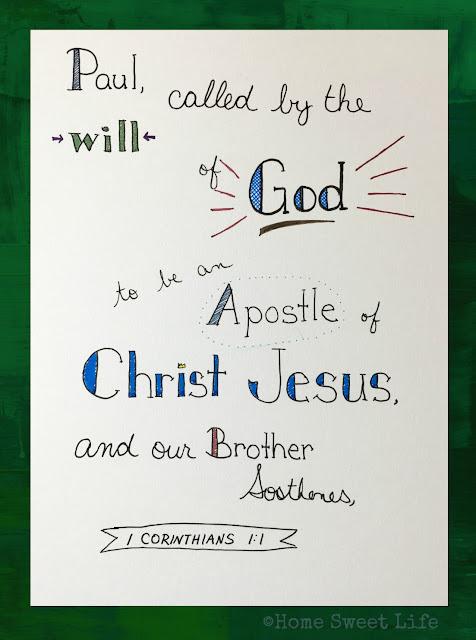 Scripture Writing, memorizing verses, hand-lettering
