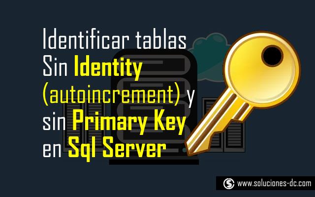 primary key e identity (autoincrement)