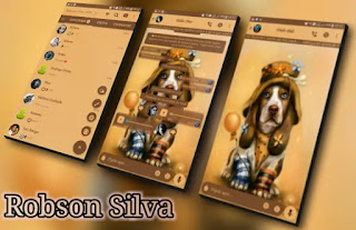 Cute Puppy Theme For GBWhatsApp By Robson