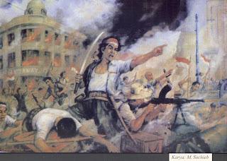 ilustrasi pejuang membela negara