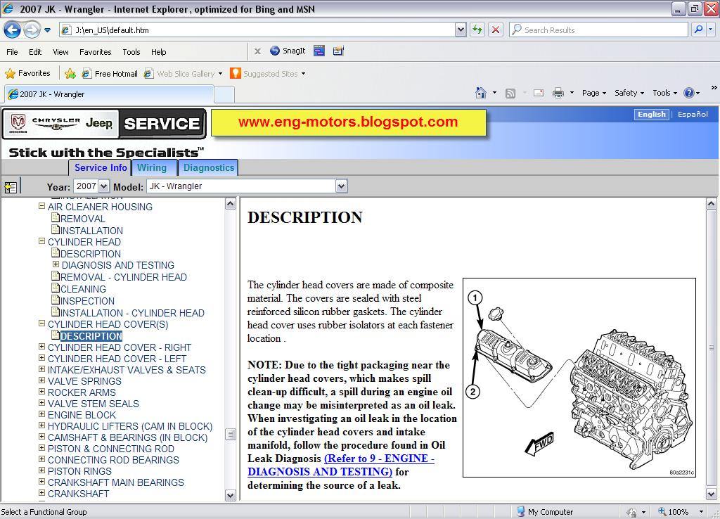 Chrysler  Dodge  Jeep Dealer Repair  U0026 Service Manual
