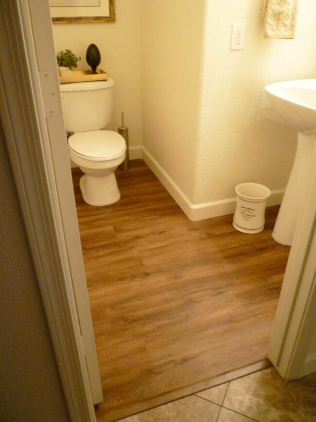 A Stroll Thru Life Powder Room New Floors