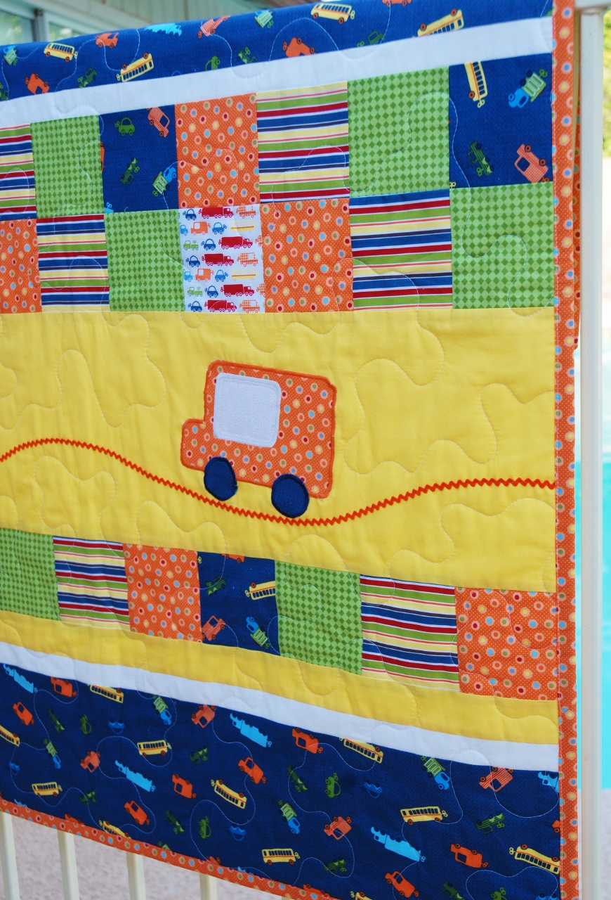 City Streets & Elephant Baby Boy Quilts