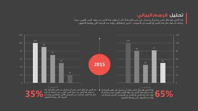 رسوم بيانية للبوربوينت عربي