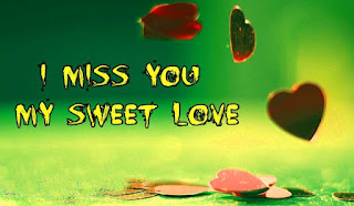 Image of my sweet love with I miss you text