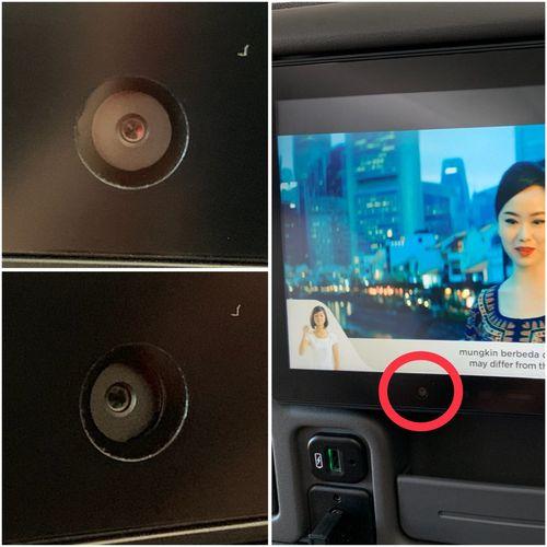 Скрытые камеры вмонтированы в кресла пассажиров бизнес-класса