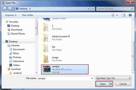 import winzip file to bypass password