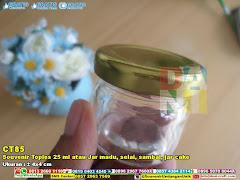 Souvenir Toples 25 Ml Atau Jar Madu, Selai, Sambal, Jar Cake
