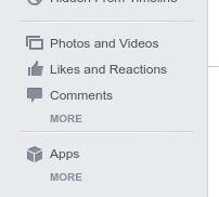 Click in More How to Find Recently Watched Videos on Facebook