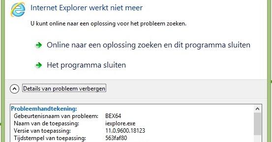 "Patrick van den Born - Blog: Fixed: Internet Explorer ""MfApHook64"